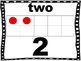 Numbers with Ten Frame, Word Form, and Standard Form