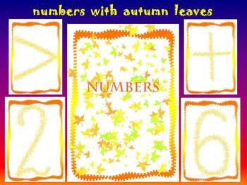 Fall - Numbers cards - Clip Art