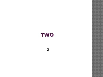Numbers word practice 1-10