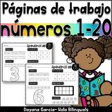 Numbers 1-20  NO PREP números