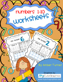 Numbers worksheets 1-10