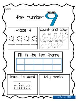 Numbers worksheets 1-10