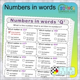 Numbers written in words (23 Literacy & Numeracy sheets)