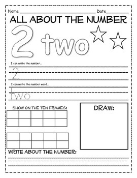 Numbers1-20 Activity Set