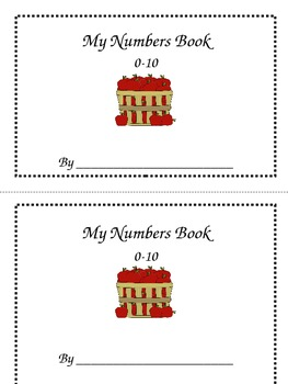 Numbers/Counting Book- September and October theme
