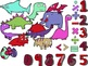 Numbersaurs! [Dinosaur Clip Art & Numbers] 4 Colored Theme