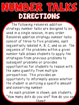 Numbertalk Rekenrek Addition Strategy Cards