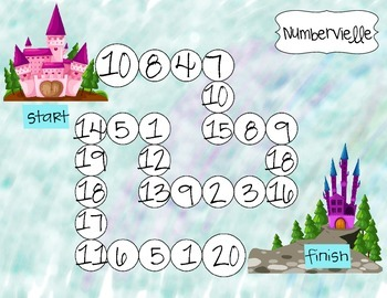 Numbervielle Castle Number Recognition Game (1-20) Flash Freebie