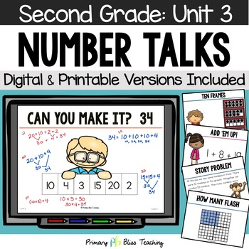 Number Talks / Math Talks ~ November of Second Grade ~ Common Core Aligned