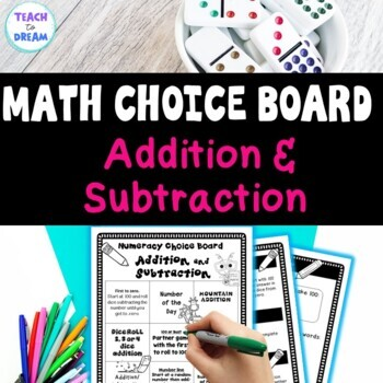 Math Choice Grid: Addition and Subtraction, Tasks, Activities & Worksheets
