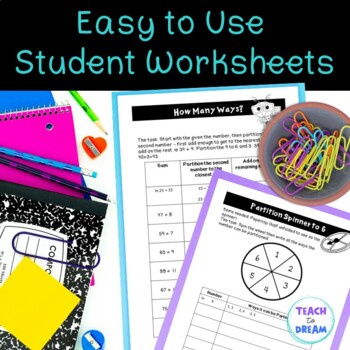 Math Choice Grid: Partitioning, Tasks, Activities and Worksheets