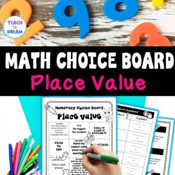 Math Choice Board: Place Value, Tasks, Activities and Worksheets