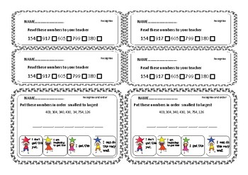 Numeracy Exit Tickets:- Counting Level 2
