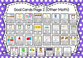 Math Goal Cards - Lower Grades
