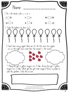 Numeracy Math Busy Book PACK Years 1&2 NUMBERS 1-20