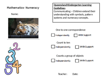Numeracy Observation and Assessment Form