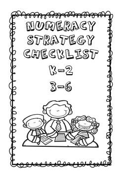 Numeracy Strategy Checklists