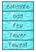 Numeracy Word Wall - Year three
