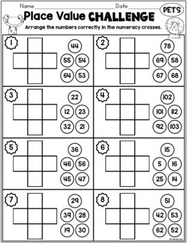 Numeracy Worksheets - Differentiated