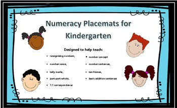 Numeracy placemats