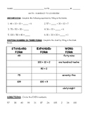 Numeracy to 120 Review and Test