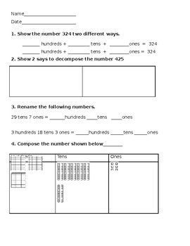 Numeracy to 500 Homework