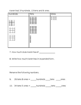 Numeracy to 500 (compose, decompose, rename)