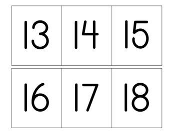 Numeral Assessment 0-20 for Preschool
