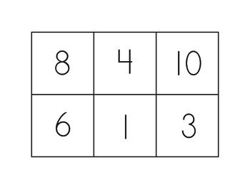 Numeral Bingo 0-10
