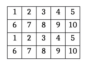 Numeral Cards 1 to 10