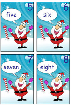 Numeral Cards - Santa - Zero to Twenty - Ideal for Math Games