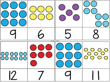 Numeral Dot Clip Cards – Subitizing and Counting Activity