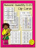 Numeral-Quantity (0-20) Clip Cards + Bonus Matching Cards