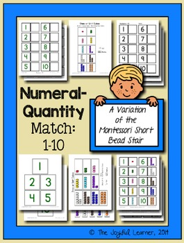 Numeral-Quantity Match: 1-10 (A Variation of the Montessori Short Bead Stair)