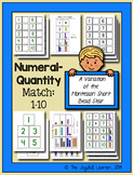 Numeral-Quantity Match: 1-10 (A Variation of the Montessor