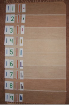 Numeral-Quantity Match: 10-19 (A Variation of the Montessori Teens Board)