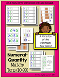 Numeral-Quantity Match: 10-99 (A Variation of the Montesso