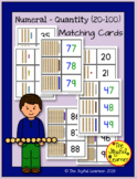Numeral-Quantity Matching Cards - 20-100
