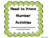 Numeral Recognition and Counting Flashcards with Activities