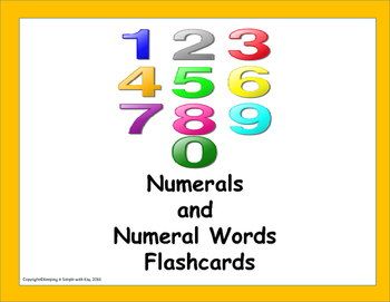 Numerals and Numeral Words Flashcards