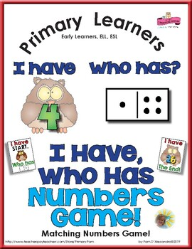 Numeral and Subitising Practice - Owl I Have Who Has Game
