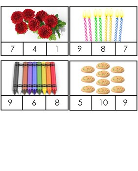 Numeral Identification Clip Cards--Numbers and Quantity