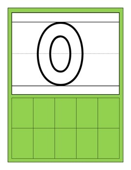 Numeral/Ten Frame practice cards