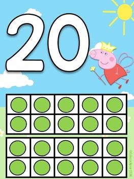 Numerales Peppa Pig 0 al 20