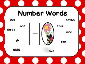 Numerals 1-10 Freebie Seat Work or Math Center or Station