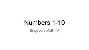 Numerals 1-10 supplement