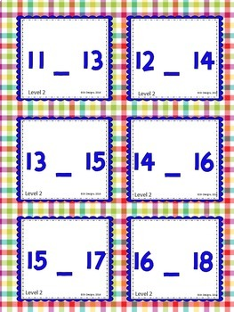 Sequencing Numerals 1-20 Build Skills, Fluency w Flash Cards & Practice Pages