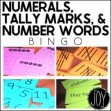 Numerals 1-25, Tally Marks, Number Words BINGO