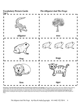 "Numerals, Prepositions, & Adjectives (big & small) ""The Alligator And The Frogs"""