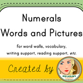 Numerals and Number Words- Word Walls, Writing Support, Reading